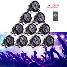10X 72W PAR Can DMX Bühnenlicht 36 LED Lichteffekte RGB Disco Party Club Remote