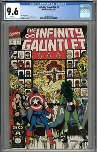 Infinity Gauntlet #2 CGC 9.6 NM+ WHITE PAGES