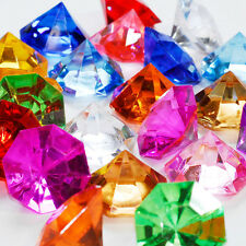 100pcs Assorted Multicolor Acrylic Large Pirate Diamond Gems Treasure