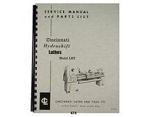 Cincinnati Lrt Hydrashift Lathe Service Manual Amp Parts List 474