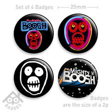 "MIGHTY BOOSH - 1"" Badge x 4 - GIMP Mask, Logo Badges"