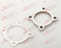"""3"""" 4 Bolt SS304 Turbo Exhaust Downpipe Flange + Gasket T4 GT35 T3/60-1 GT3582R"""