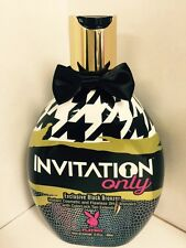 Playboy Invitation Only Black Bronzer Indoor Tanning Bed Lotion 13.5 oz