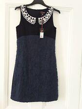 Yumi Navy Dress With Sparkly Collar Size 8 BNWT