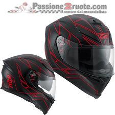 Casco Agv K5 K-5 Hero Nero opaco rosso Black red taglia XL moto integrale fibra