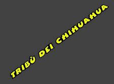 Valentino Rossi flúor Tribu Dei Chihuahua Visera Casco Calcomanía Adhesivo 150mm