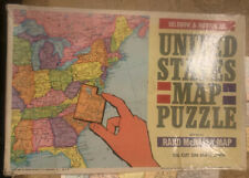 United States Map Puzzle, Selchow & Righter Co. #519 MISSING PIECES CRAFT SUPPLY
