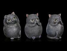 TRES Grueso Gatos FIGURAS - NADA MALO - FANTASY BONITOS NEGRAS gatitos