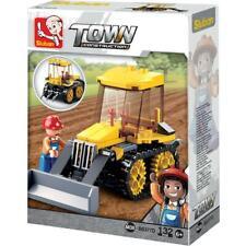 Sluban Kids Tractor Bulldozer Building Blocks 132 Pcs Building Toys for Kids