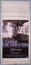 Locandina L'Uomo Che Non C'Era - Joel Ethan Coen   Playbill  cm.33x70