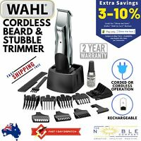 WAHL Electric Cordless Rechargeable Mens Beard Stubble Mustache Shaver Trimmer