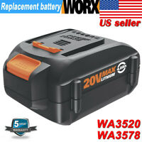 New WA3525 For WORX WA3575 20V Max Lithium-Ion Battery 6.0Ah WA3520 WA3578 WG160