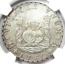 1760-MO MM Mexico Pillar Dollar 8 Reales Coin (8R) - Certified NGC AU Details