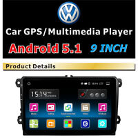 """for VW Jetta Passat Golf 9"""" HD Touch Screen Car Stereo GPS MP3 Player Radio SD"""