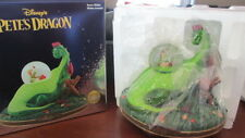 """NIB RETIRED LARGE DISNEY PETE'S DRAGON MUSICAL SNOWGLOBE """"CANDLE ON THE WATER"""""""