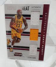 LeBron James Triple Relic 2015/16 NBA Basketball Panini Threads /199 3x Jersey
