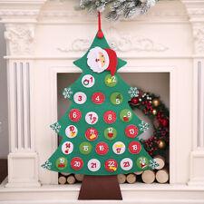 Calendario de Adviento Fieltro Reutilizable /Árbol de Navidad Cuenta regresiva de 24 d/ías Puerta de pared Colgante Decoraci/ón de Navidad Ni/ños Regalo de bricolaje para tiendas de oficina en casa