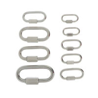 Stainless Steel Quick Links Oval Carabiner Rope Cable Shackle Connector