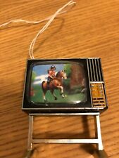 "VINTAGE LUNDBY Telivision ""Girl on Pony""  TESTED, with Lundby transformer"