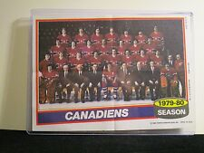 1979-80 MONTREAL CANADIANS TEAM PHOTO TOPPS 5X7 WITH TOP LOADER