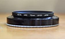 Genuine HOYA Japan HMC 72mm UV(O) Multi-Coated Camera Lens-Filter Great Shape!