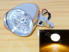 Chrome Aluminum Billet Headlight For Harley Sporster Softail Chopper Bobber Dyna
