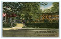 Postcard The Cresheim Arms Hotel Mt Airy Philadelphia PA linen G18