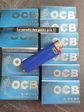 feuille à rouler OCB X-pert,10 carnets de 100 feuilles OCB X-pert + briquet BIC