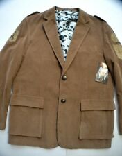 NEW Men's Affliction Tan Brown Corduroy Blazer Live Fast Skull Logo Jacket Sz.L