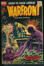 WARFRONT No. 32 1958 Harvey War Comic Book TRUE WAR EXPOSES Frogman 4.0 VG
