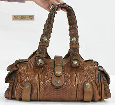 Used Authentic Chloe Bag Python Silverado Medium Brown