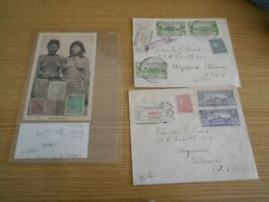 Paraguay two older covers and one old postcard - Ref IL10