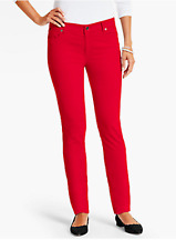 NWT $99 TALBOT'S RED STRAIGHT LEG FLAWLESS FIVE POCKET VELVETEEN PANTS 24W