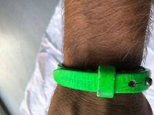D2 Dsquared Armband Lederband Bracelet Armlet Lederarmband Leder grün