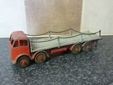 VINTAGE DINKY TOYS NO.505/905 FODEN FLAT TRUCK WITH CHAINS 2ND TYPE CAB RED/GREY