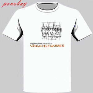 New Violent Femmes Folk Punk Logo Men's White T-Shirt Size S - 3XL