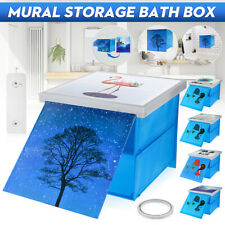 Foldable Mural Storage Box Bathroom Toilet Cabinet Organizer Home Wall