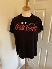 Coca-Cola Gold Lettering Crew Neck Adult Mens T-Shirt Medium