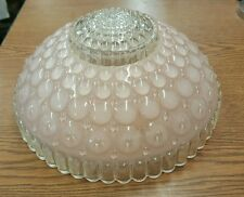 "Vintage Pink Round Bubble Ceiling Light Shade 10"" Art Deco"