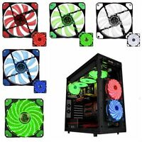 3-Pin/4-Pin 120mm PC Computer Case CPU Cooler Cooling Red Blue LED Light Fan