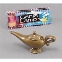 Gold Plastic Genie Lamp Prop - Fancy Dress Golden Aladin Arabian