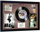 Freddie Mercury Queen Live Aid SIGNED FRAMED PHOTO PRINT & Mini LP Perfect Gift