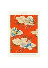 Japanese 1902 Art Pattern Print Shin-Bijutsukai Flower Butterfly Giclee Poster