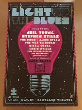 Autism Speaks Light Up The Blues 2016 Poster Kii Arens Singed Of 400 Neil Young