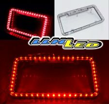 Universal Fit 54 Red LED Light Flash Front/Rear License Plate Cover Frame