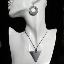 Shungite Pendant + Shungit Earrings Jewelry Natural Protection Healing Karelia