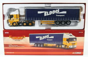 Corgi 1/50 Scale Model Truck CC15001 - Iveco Stralis Curtainside - Elddis