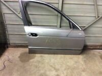 FRONT RIGHT PASSENGER DOOR SHELL GRAY SILVER FITS 97 BMW 528I