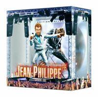 COFFRET JEAN PHILIPPE DVD  HALLYDAY FIGURINE ANIMEE + 45 T  NEUF SOUS CELLOPHANE