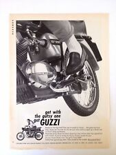 1966 Moto Guzzi 125 Sport Motorcycle Vintage Original Print Ad